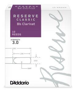 D'Addario Reserve Classic Clarinet Reeds