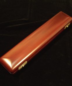 K.Custom Carved Wood Flute Case