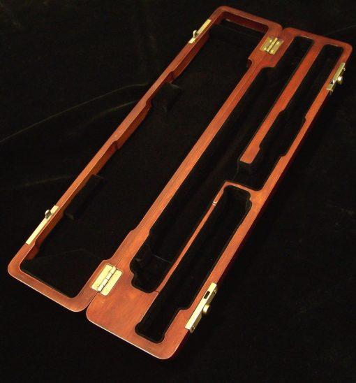 K.Custom Carved Wood Flute Case