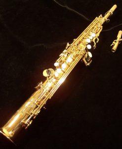 Used Antigua Soprano Sax - 4290RLQ Red Brass Model