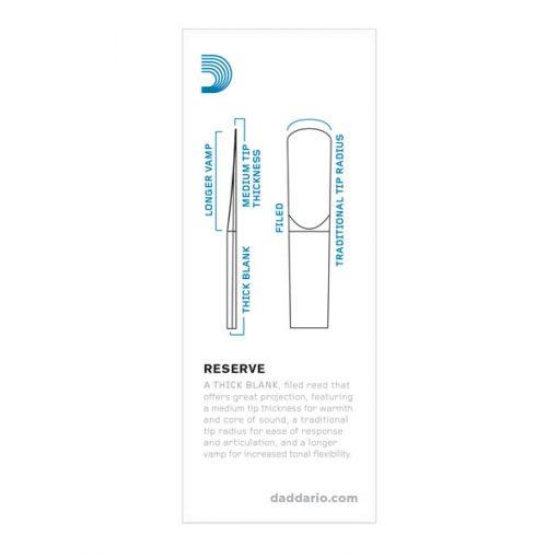 D'Addario Reserve Bass Clarinet Reeds