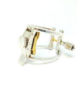 AK Clarinet Ligature - Rhodium Plated