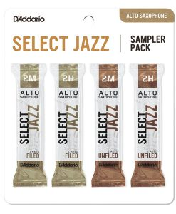 D'Addario Select Jazz Alto Sax Reed Sample Card