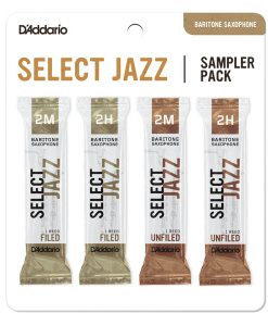 D'Addario Select Jazz Bari Sax Reed Sampler Card