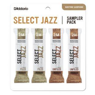 D'Addario Select Jazz Bari Sax Reed Sampler Card