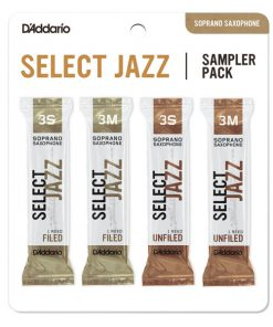 D'Addario Select Jazz Soprano Sax Reed Sampler Card