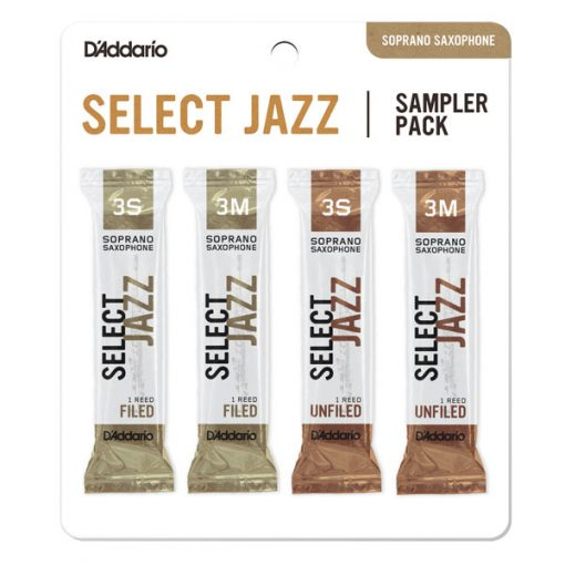 D'Addario Select Jazz Soprano Sax Reed Sampler Card