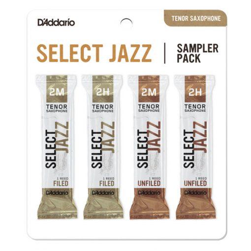 D'Addario Select Jazz Tenor Sax Reed Sampler Card