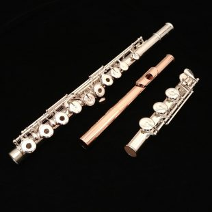 Pearl 765 Quantz Flute with 18k Rose Gold Plated BREZZA Headjoint