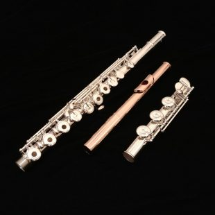 Pearl Quantz 665 Flute with 18k Rose Gold Plated BREZZA HJ & C# Trill