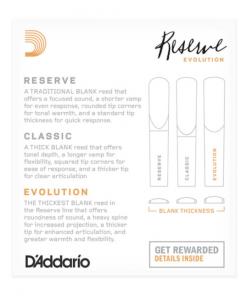 D'Addario Reserve Evolution Clarinet Reeds