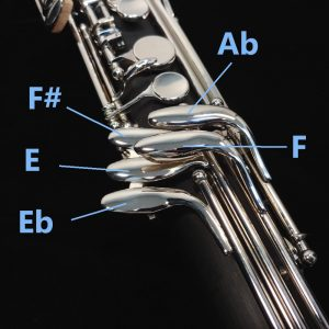 2nd Generation Bass Clarinet Fingering - Right Hand Pinky