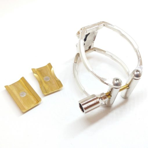 AK Ligature for Clarinet - White Bronze Plated