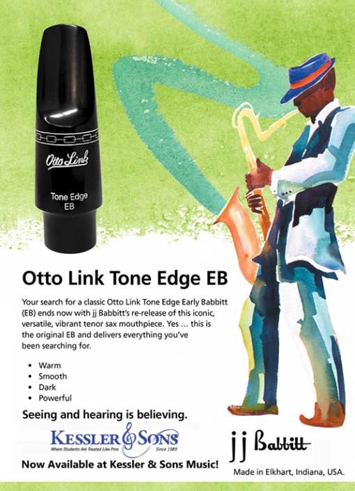 Otto Link Tone Edge EB Tenor Sax Mouthpiece - Connoisseur Series