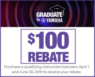 Graduate to Yamaha $100 Banner