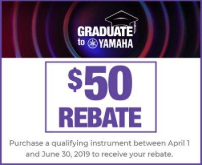 Graduate to Yamaha $50 Banner